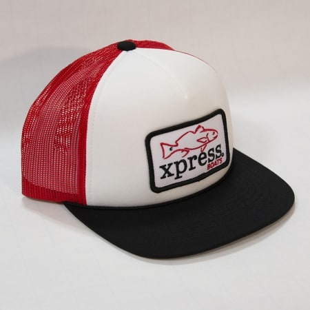 Xpress fish patch-black, white & red