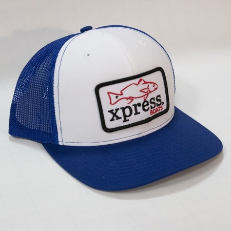 Xpress fish patch-blue & white