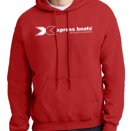 Xpress Boats Red Hoodie 1